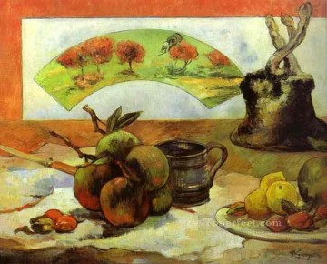 Still life Painting - Still Life with Fan Post Impressionism Primitivism Paul Gauguin